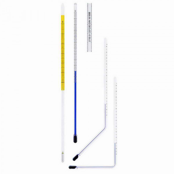 Glass insert thermometer 0 to + 500°C Straight