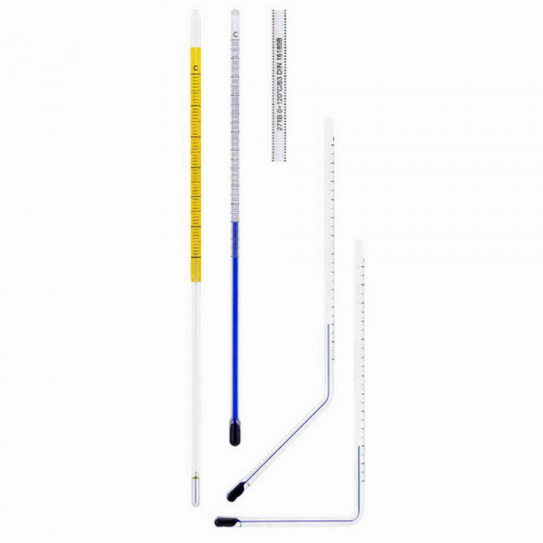 Glass insert industrial thermometer 0 to 30°C