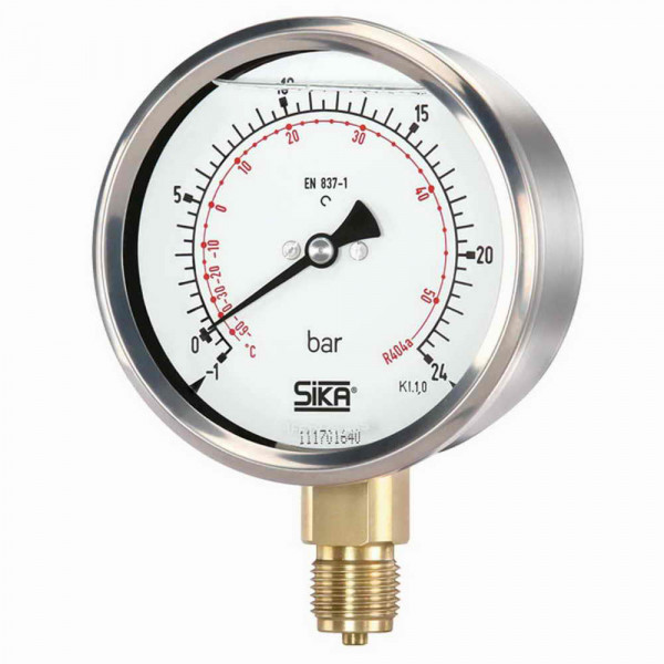 Pressure gauge -1 to 24 bar Ø 63mm
