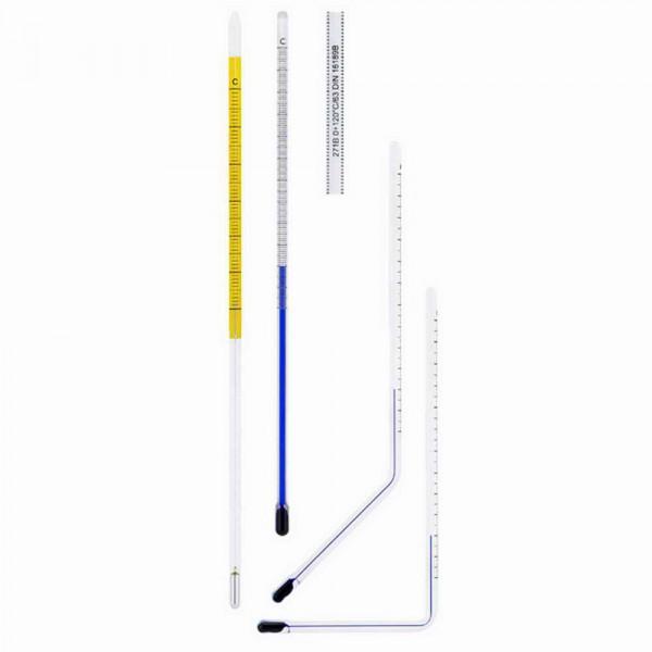 Machine thermometer 110mm Glass insert W 90°